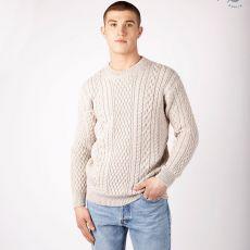 Irelands Eye Cuileann Aran Silver Sweater