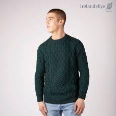 Irelands Eye Fearnóg Aran Evergreen Sweater