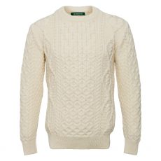 Irelands Eye Fearnóg Aran Natural Sweater