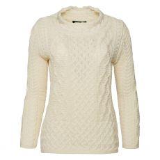 Irelands Eye Natural Spindle Aran Sweater
