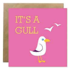 Its A Gull Announcement Card