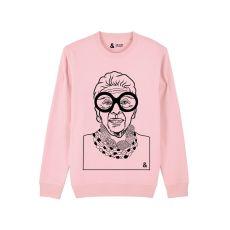 Jill & Gill Iris Apfel Pink Sweater
