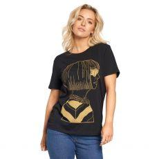 Jill & Gill Anna Wintour Black T-Shirt model front