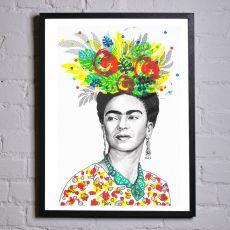 Jill & Gill Frida Kahlo Framed Print