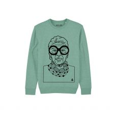 Jill & Gill Iris Apfel Mint Sweater