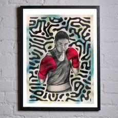 Jill & Gill Katie Taylor Framed Print