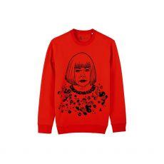 Jill & Gill Yayoi Kusuma Red Sweater