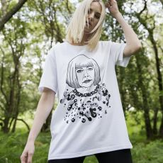 Jill & Gill Yayoi Kusuma White T-Shirt on model