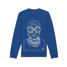 Jill & Gill Iris Apfel Blue Sweater