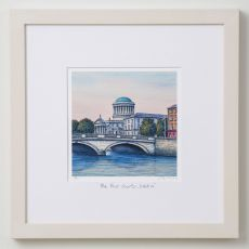 Jim Scully The Four Courts 12x12 Square Frame