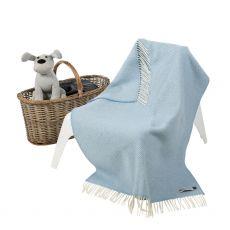 John Hanly Cashmere Blue Baby Blanket