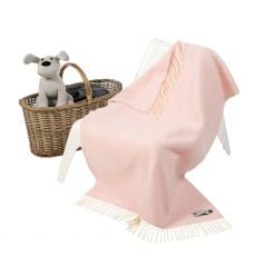 John Hanly Cashmere Pink  Baby Blanket