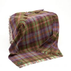 John Hanly Green/Purple Plaid Blanket