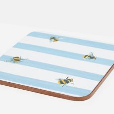 Joules Bee & Stripe Coasters Set of 4