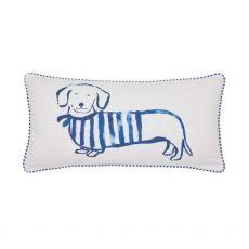 Joules Coastal Dogs Blush Pink Cushion