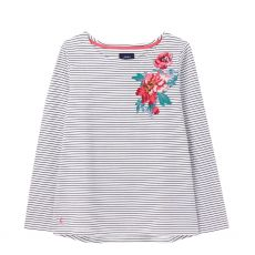 Joules Harbour Navy Strip Floral Top