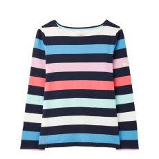 Joules Harbour Navy Stripe Jersey Top