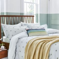 Joules Kelmarsh Bee Grey Single Size Bed Cover