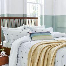 Joules Kelmarsh Bee Grey King Size Bed Cover