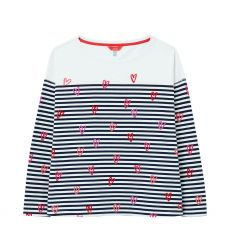 Joules Marina Print Heart Stripe Top