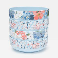 Joules Ashwick Blue Outdoor Dining Set of 4 Cereal Bowls