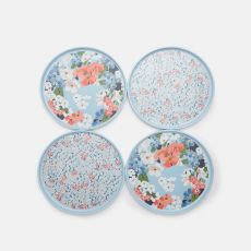 Joules Ashwick Blue Outdoor Dining Set of 4 Side Plates