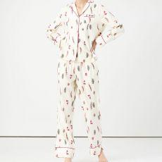 Joules Sleeptight Pyjamas Set Light Feathers