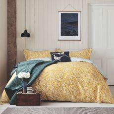 Joules Twilight Ditsy Gold King Size Duvet Cover