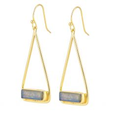 Juvi Manhattan Silver Labradorite Swing Earrings
