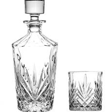 Killarney Crystal Trinity Round Decanter Set