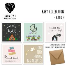 Lainey K Set of  5 Baby Greeting Cards
