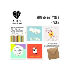 Lainey K Birthday Set of 5 Greeting Cards