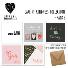 Lainey K Care & Kindness Set of 5 Greeting Cards