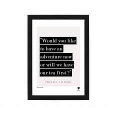 Lainey K Tea First Peter Pan Quote Framed Print