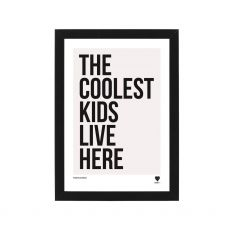 Lainey K The Coolest Kids Live Here Framed Print