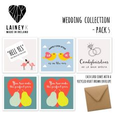 Lainey K Wedding Set of 5 Greeting Cards