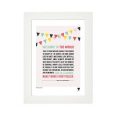Lainey K Welcome To The World Framed Print