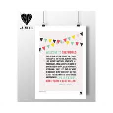 Lainey K Welcome To The World Print