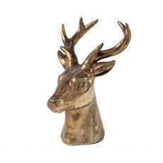 Large Gold Stag Head Deer