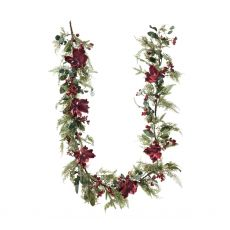 Large Magnolia Burgundy Garland