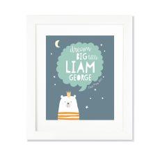 Larollie Boy - Dream Big Little Personalised Print