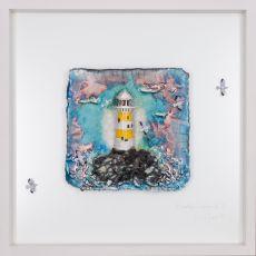 Rebeka Kahn 'Beautiful Ireland Lighthouse' 53cm x 53cm