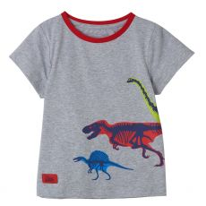 Little Lighthouse Oliver Dinosaur Print T-Shirt