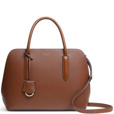 Radley Liverpool Street 2.0 Leather Top Handle Bag Tortoise