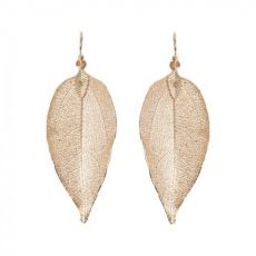 Lovethelinks Rose Gold Leaf Earrings