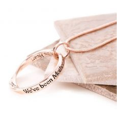 Lovethelinks Mother/Daughter Rose Gold Necklace