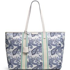 Radley Maple Cross Paisley Large Zip-Top Shoulder Bag Chalk