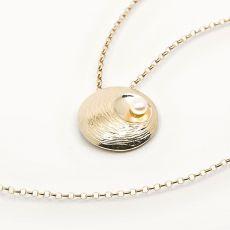 Martina Hamilton Oyster Pearl 9ct Gold Pendant