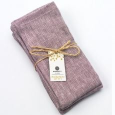 McNutt of Donegal Irish Linen Set of 4  Mauve Napkins