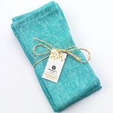McNutt of Donegal Irish Linen Turquoise Napkins
